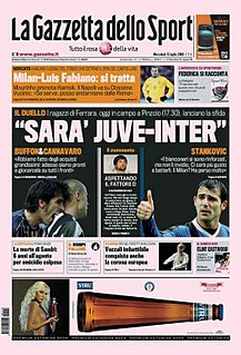 <i>La Gazzetta dello Sport</i> Italian sports newspaper
