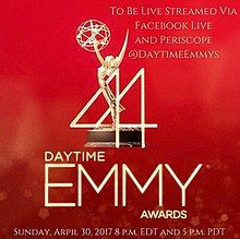 Official poster promoting the 44th Daytime Emmy Awards in 2017.