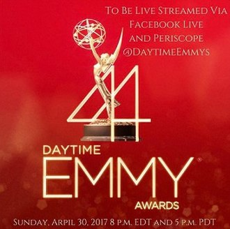 44th Daytime Emmy Awards - Official poster