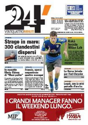 24 Minuti - The last front page (Milan edition), 2009-03-31