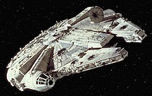 A screenshot from Star Wars Episode IV A New Hope depicting the Millennium Falcon.jpg