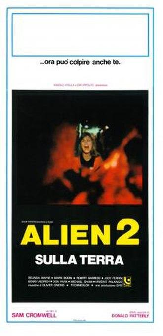 Alien 2: On Earth - Italian theatrical poster