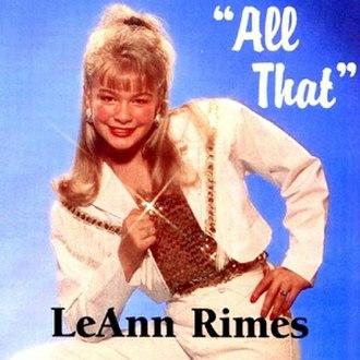 All That (album) - Image: All That (Le Ann Rimes)