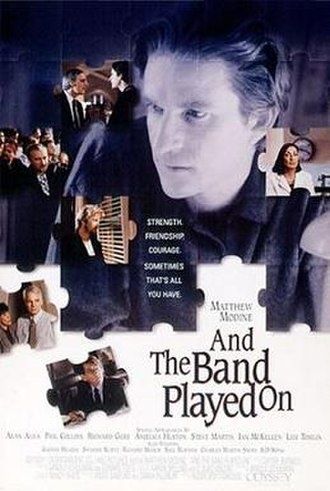 And the Band Played On (film) - Promotional poster