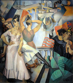 André Lhote - L'Escale, 1913, oil on canvas, 210 x 185 cm, Musée d'Art Moderne de la Ville de Paris
