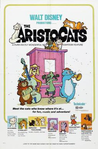 The Aristocats - Original theatrical release poster