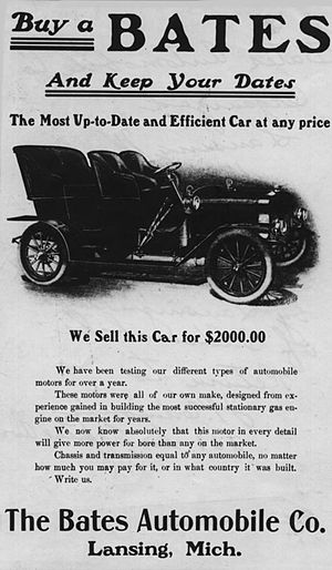 Bates (automobile) - 4-seater Bates advertisement