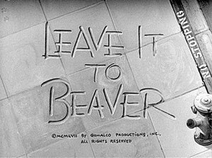 Leave It to Beaver - Season one title screen