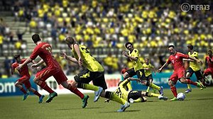FIFA (video game series) - Bundesliga clubs Borussia Dortmund against Bayern Munich in FIFA 13.