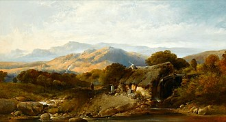 Henry Bright (painter) - A Highland Croft (oil on canvas)