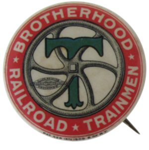 Brotherhood of Railroad Trainmen - Image: Brotherhood of Railroad Trainmen Pin