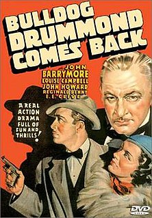 <i>Bulldog Drummond Comes Back</i> 1937 film by Louis King