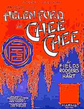 Chee-Chee (musical) - Original theater poster of 1928