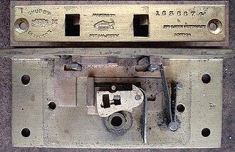 Chubb detector lock - A small Chubb detector lock from a gun case (circa 1910)