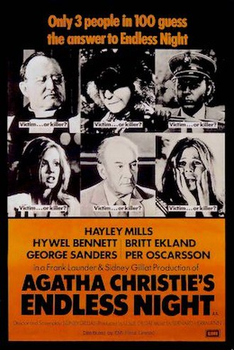 Endless Night (1972 film) - Theatrical release poster