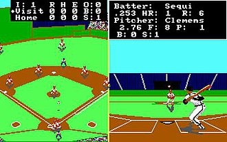 Earl Weaver Baseball - A screenshot from the DOS version of EWB.