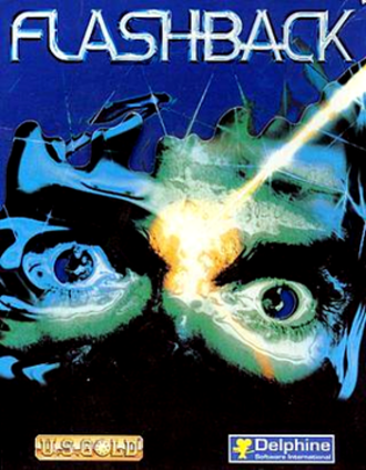 Flashback (1992 video game) - Original Amiga cover art