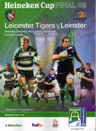 2009 Heineken Cup Final - Match programme cover
