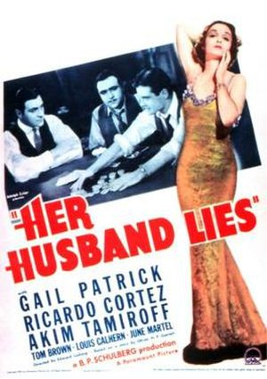 Her Husband Lies - Theatrical release poster