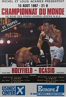 Evander Holyfield vs. Ossie Ocasio IBF and WBA Cruiserweight division world championship boxing fight