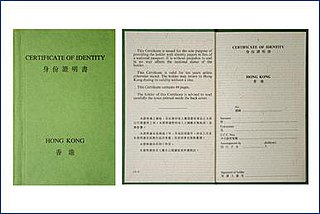 Hong Kong Certificate of Identity