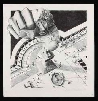 "I'm the Greatest - Klaus Voormann's lithograph for ""I'm the Greatest"", included in the Ringo LP booklet"
