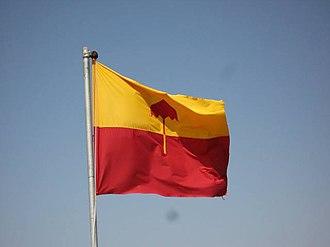 Jaisalmer State - Flag of Jaisalmer over Royal Palace