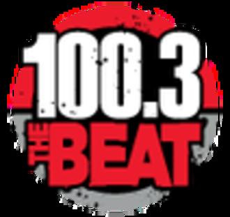 KMJM-FM - Image: KMJM 100.3The Beat logo