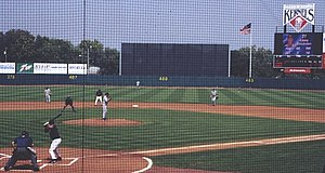 Cedar Rapids Kernels - Casey Kotchman bats against the Clinton LumberKings, September 1, 2002