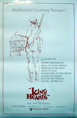 King of Hearts (1966 film) - Original U.S. release poster