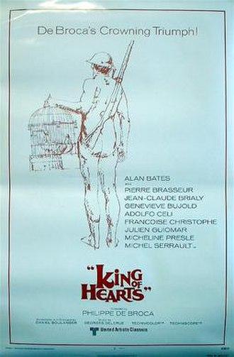 King of Hearts (1966 film) - Original U.S. release poster