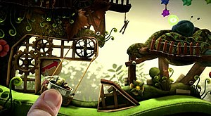LittleBigPlanet PS Vita - Players can use the touch screen controls to interact directly with the environment.