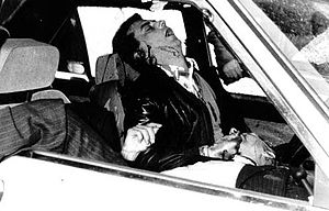 Pio La Torre - The bodies of Pio La Torre and Rosario Di Salvo after they have been killed by the Mafia