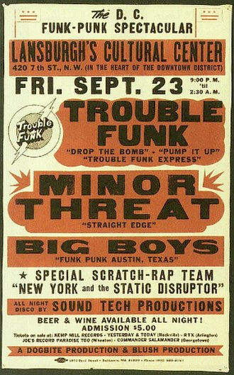 Minor Threat - Poster promoting what would be Minor Threat's final show.