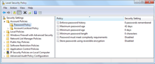 Group Policy policy management system in Microsoft Windows