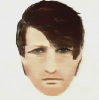 Murder of Lynette White - The 1988 police E-FIT of the prime suspect, a white male, seen outside 7 James Street.