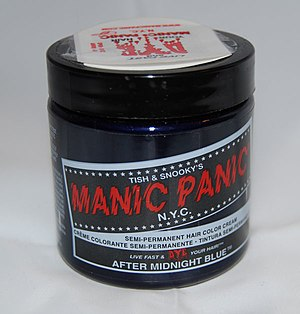 A jar of Manic Panic hair dye