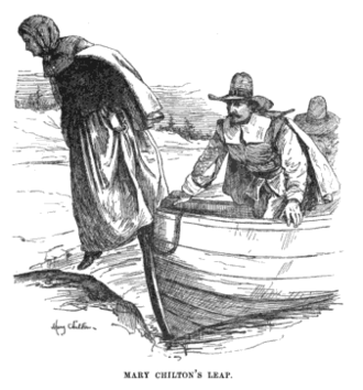 Mary Chilton - Mary Chilton leaping onto Plymouth Rock before the other Pilgrims