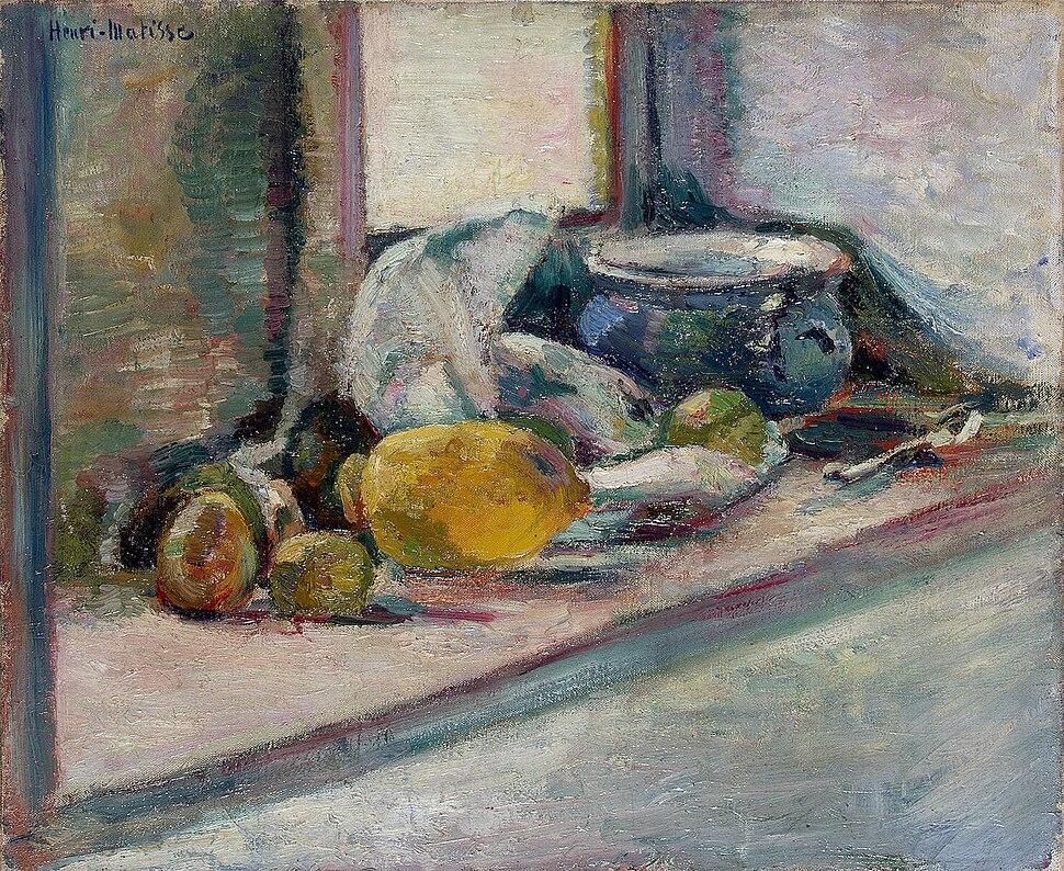 Matisse - Blue Pot and Lemon (1897)