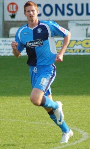 Matt Harrold - Harrold playing for Wycombe Wanderers in 2009