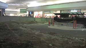 Meadowood Mall - Center Court at the mall during construction, 2013