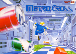 European arcade flyer of Metro-Cross.