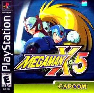 Mega Man X5 - North American PlayStation cover art