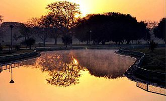 Model Town, Lahore - Central Park and a lake  of Model Town Society