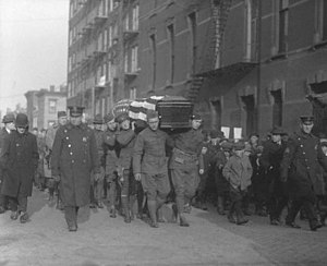 Monk Eastman - The 1920 military funeral procession of Monk Eastman in New York City