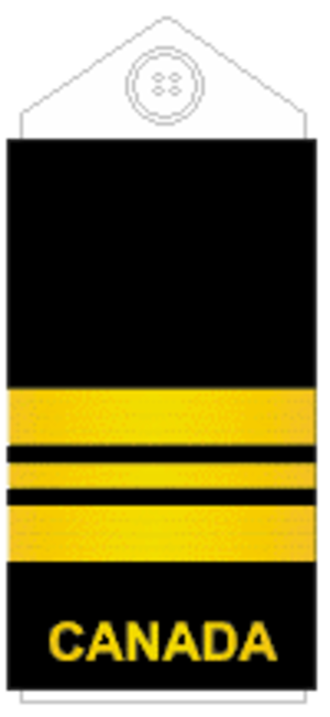 Lieutenant-commander (Canada) - Image: Navy slip on L Cdr