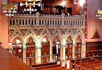 Old South Church - The narthex screen is carved of Caen stone limestone