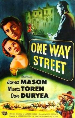 One Way Street - Theatrical release poster