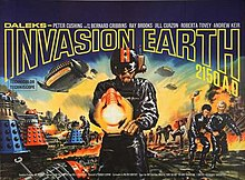 Original UK quad poster of Daleks, Invasion Earth 2150 A.D.jpg