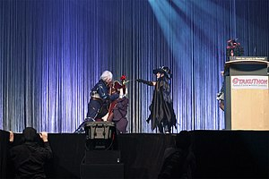 Otakuthon - 3 contestants perform a skit on stage during the Otakuthon 2011 Masquerade